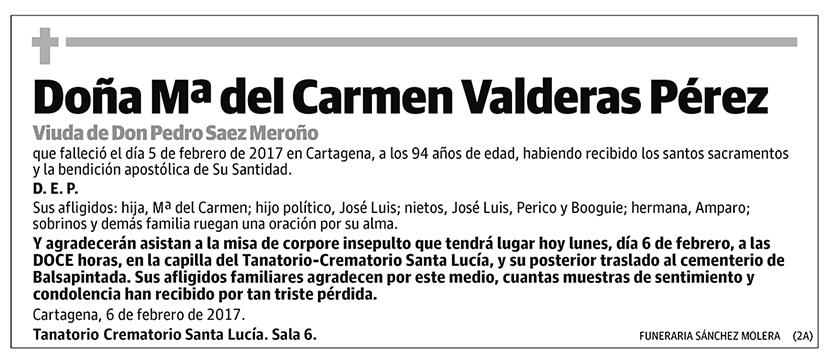 Mª del Carmen Valderas Pérez