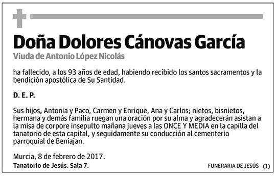Dolores Cánovas García