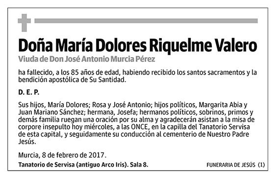 María Dolores Riquelme Valero