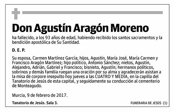Agustín Aragón Moreno