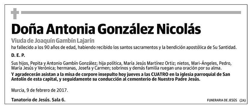 Antonia González Nicolás