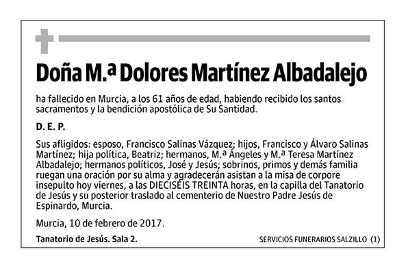 M.ª Dolores Martínez Albadalejo