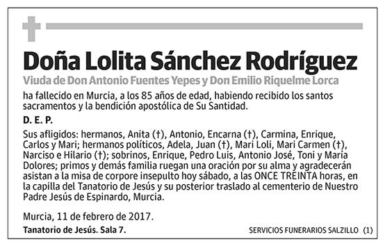 Lolita Sánchez Rodríguez