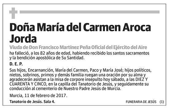 María del Carmen Aroca Jorda