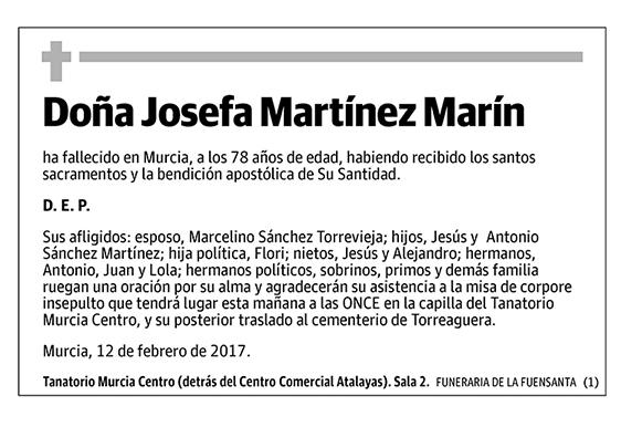 Josefa Martínez Marín