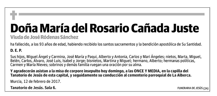 María del Rosario Cañada Juste