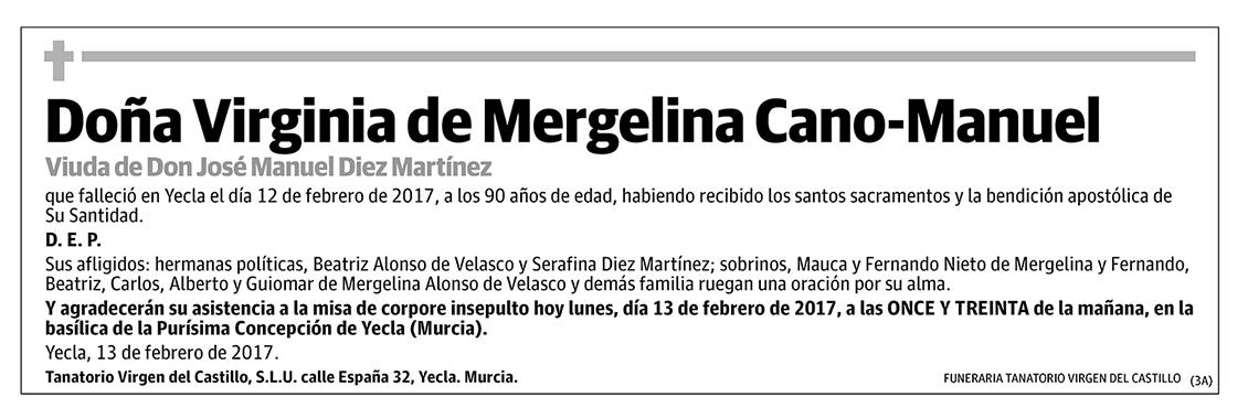 Viginia de Mergelina Cano-Manuel