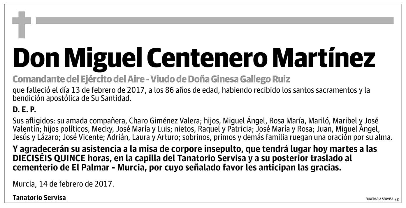 Miguel Centenero Martínez