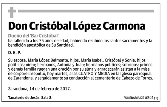 Cristobal López Carmona