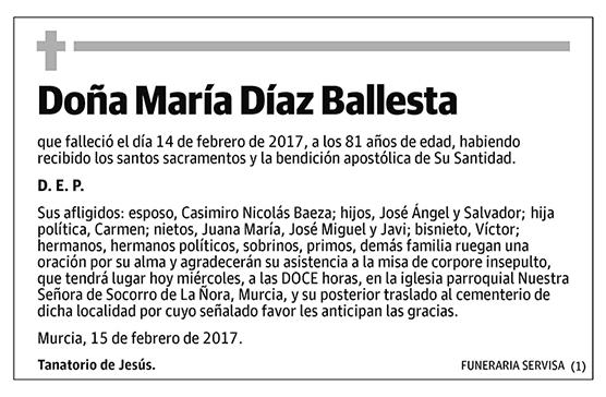 María Díaz Ballesta