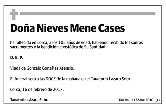 Nieves Mene Cases