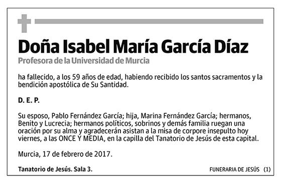 Isabel María García Díaz