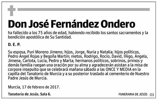 José Fernández Ondero