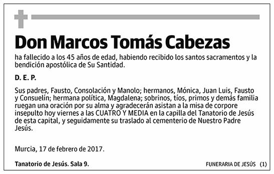 Marcos Tomás Cabezas