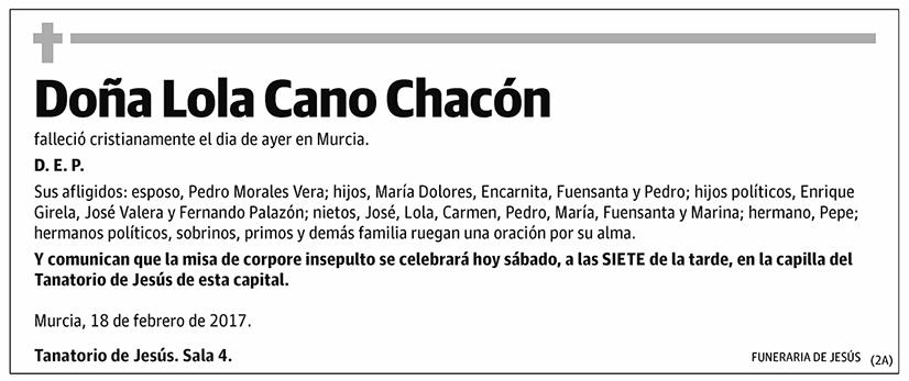 Lola Cano Chacón
