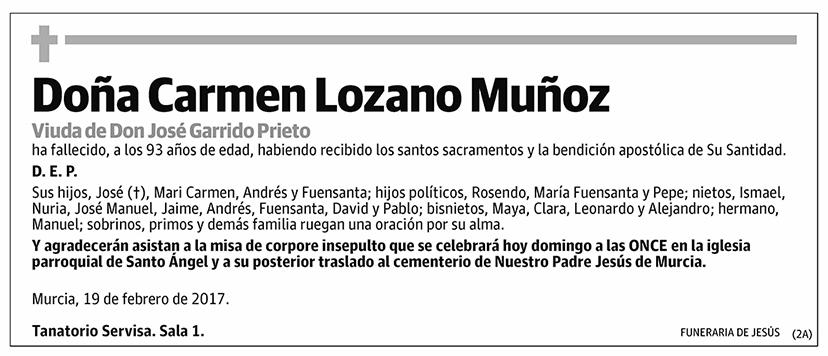 Carmen Lozano Muñoz