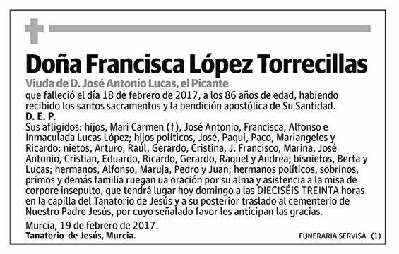 Francisca López Torrecillas