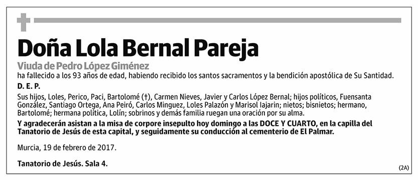 Lola Bernal Pareja
