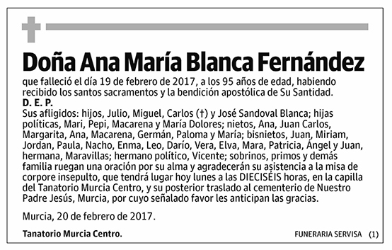 Ana María Blanca Fernández