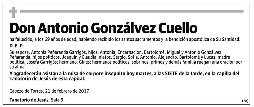 Antonio Gonzálvez Cuello