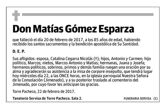 Matías Gómez Esparza