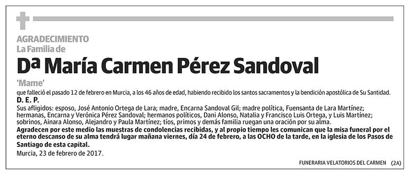 María Carmen Pérez Sandoval