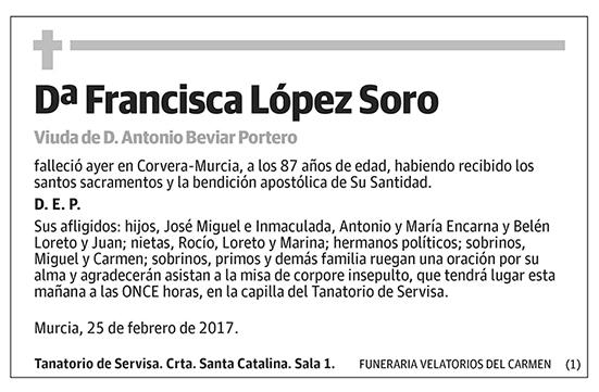 Francisca López Soro
