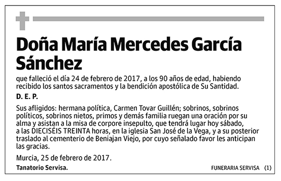 María Mercedes García Sánchez