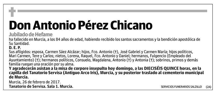 Antonio Pérez Chicano