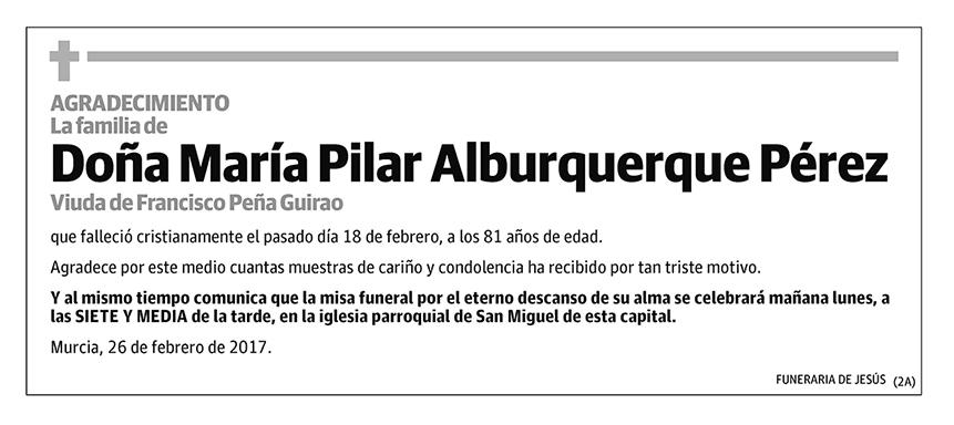 María Pilar Alburquerque Pérez