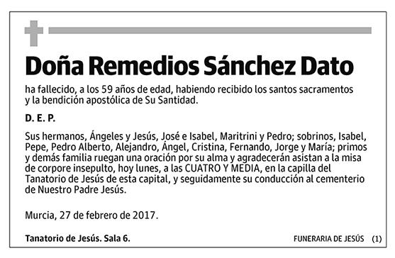 Remedios Sánchez Dato