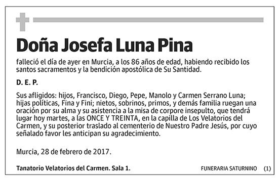 Josefa Luna Pina