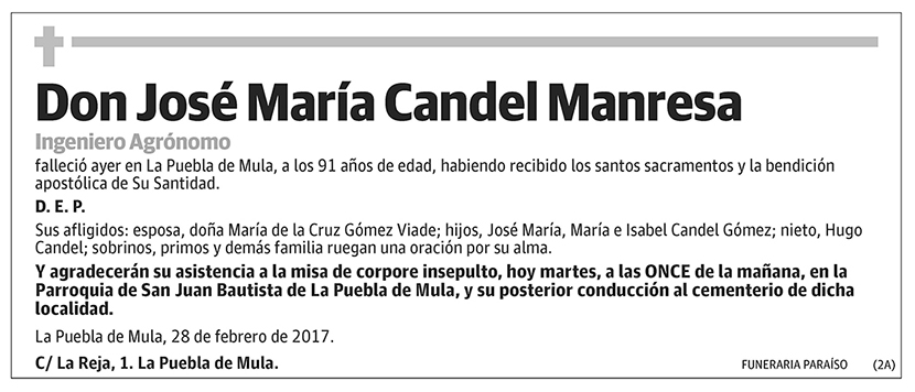 José María Candel Manresa