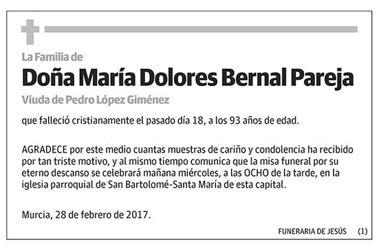 María Dolores Bernal Pareja