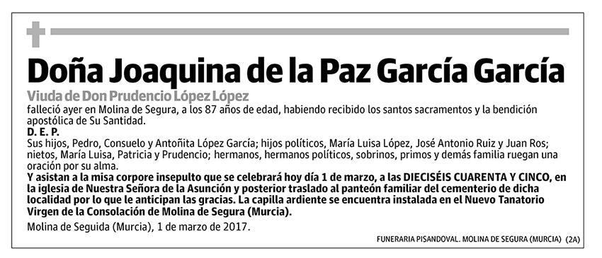 Joaquina de la Paz García García