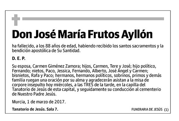 José María Frutos Ayllón