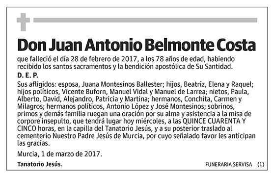 Juan Antonio Belmonte Costa