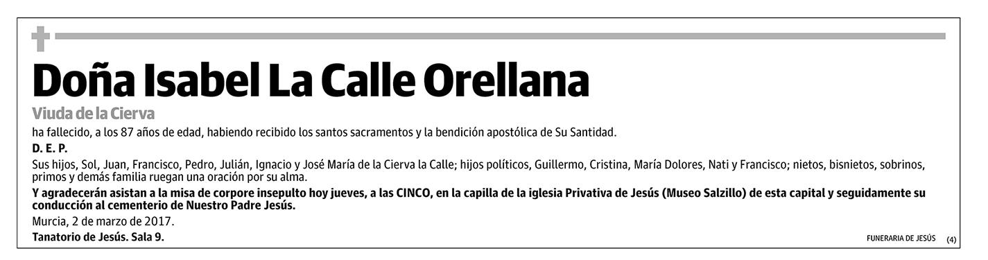 Isabel La Calle Orellana