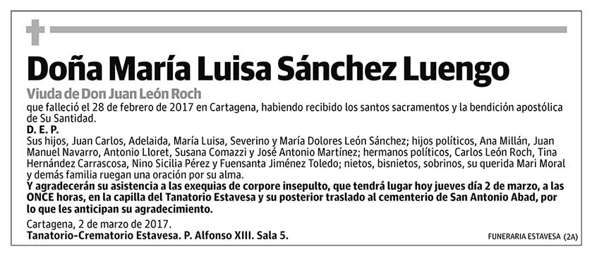 María Luisa Sánchez Luengo