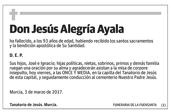 Jesús Alegría Ayala