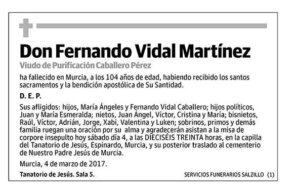 Fernando Vidal Martínez