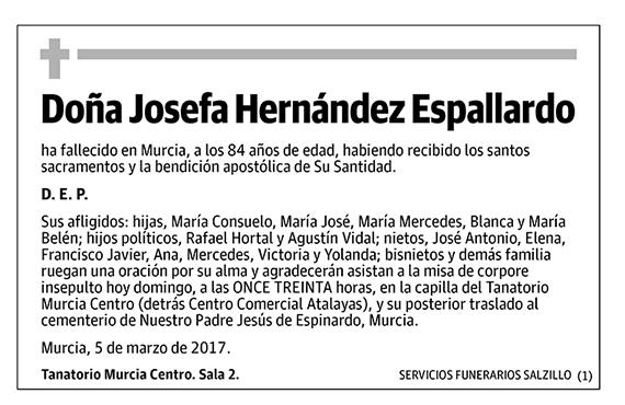 Josefa Hernández Espallardo