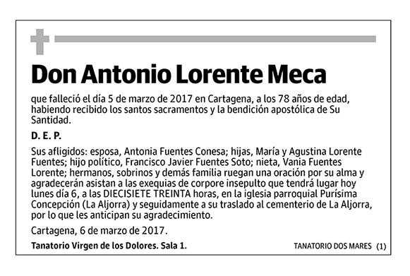 Antonio Lorente Meca