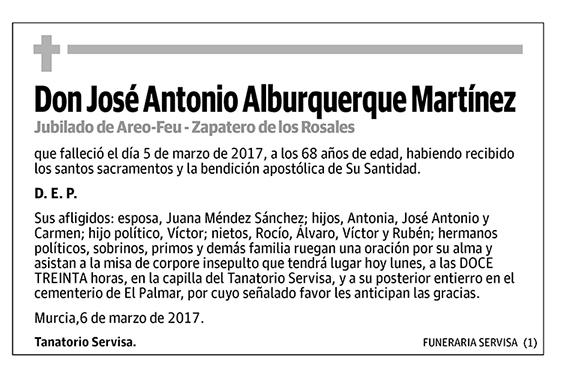 José Antonio Alburquerque Martínez