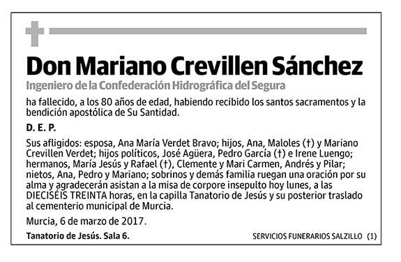 Mariano Crevillen Sánchez