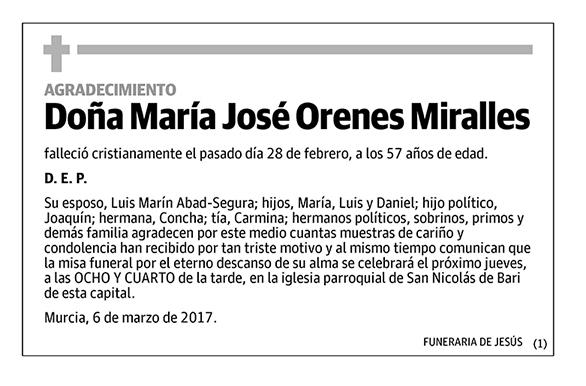 María José Orenes Miralles