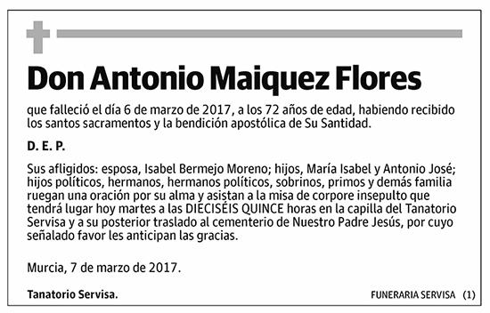 Antonio Maiquez Flores