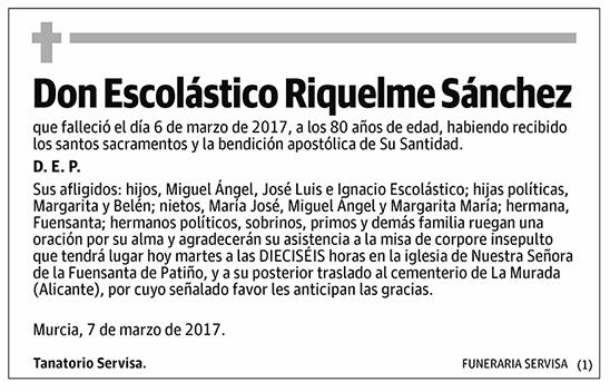 Escolástico Riquelme Sánchez