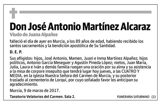 José Antonio Martínez Alcaraz