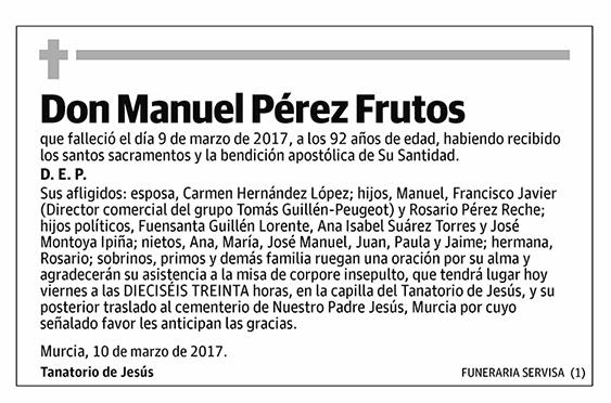 Manuel Pérez Frutos